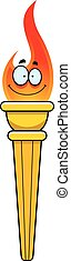 Cartoon Olympic Torch - A cartoon illustration of and...
