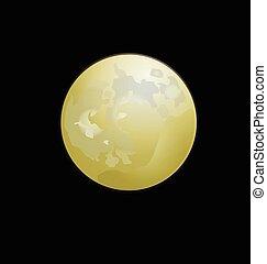 Bright full moon vector