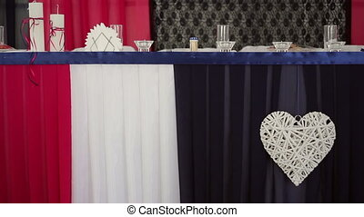 Decorated and served table - Decorated and served bride and...