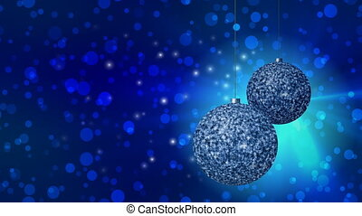 Christmas balls generated seamless