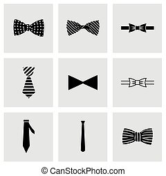 Vector bow ties icon set on grey background