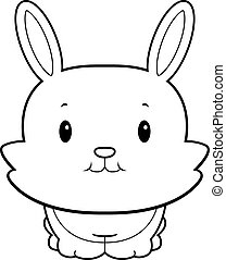 Baby Rabbit - A happy cartoon baby rabbit standing and...