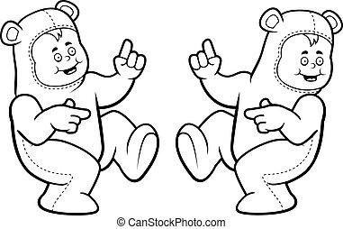 kostium, Niedźwiedź, Taniec