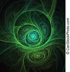 Green substance. 3d digital generated this image