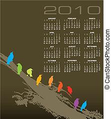 2010 vector calendar
