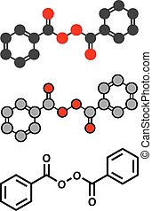 Benzoyl peroxide acne treatment drug molecule Also used to...