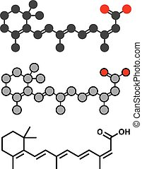 Isotretinoin acne treatment drug molecule Known to be a...