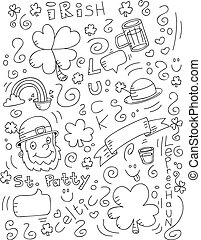 Irish Doodle - A cartoon doodle with an Irish theme.