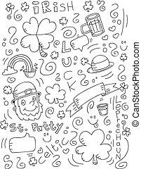 Irish Doodle - A cartoon doodle with an Irish theme.