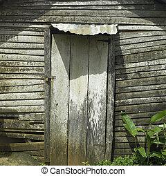 Old shack door - Locked door of a run down shack