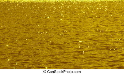 Golden sparkling lake Slo-mo - Slow-motion sparkling lake...