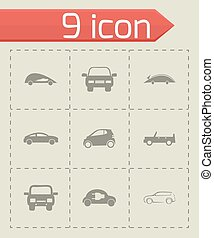 Vector electric icons set