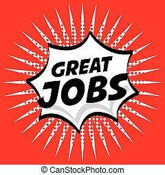 jobs design , vector illustration
