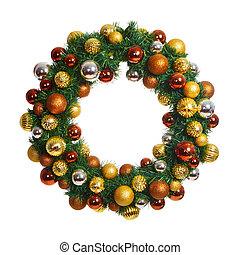 Christmas garland - Beautiful Christmas crown isolated on...
