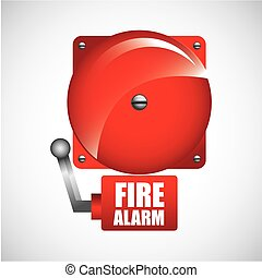fire alarm design , vector illustration