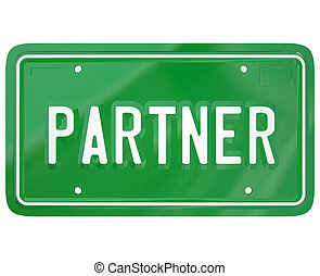 Partner Word Green License Plate Join Group Firm Association...