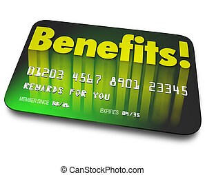 Benefits Word Credit Card Rewards Program Shopper Loyalty -...
