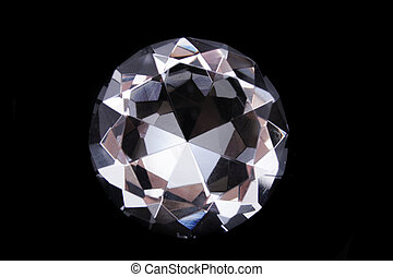 nice diamond isolated on the black background