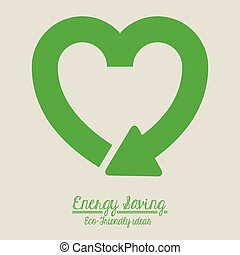 Energy saving design over beige background,vector...