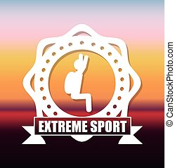 Extreme sports design over blurbackground, vector...