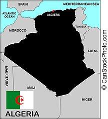 Algeria Map Black
