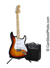 An electric Guitar and Amp - An Electric guitar and Amlifier...
