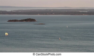 Maine Ocean View Sail Boats - Maine USA Ocean View Sail...