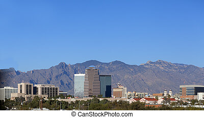 City skyline, Tucson, AZ - Cityscape of Tucson downtown...