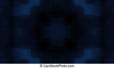 Dark Blue Geometric Loop
