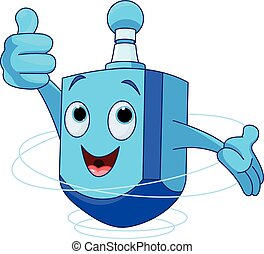Dreidel Character - Cute Dreidel Character wish you a Happy...