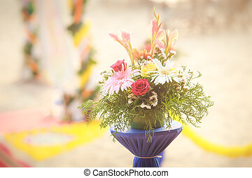 beautiful flowers on indian wedding - fresh beautiful...