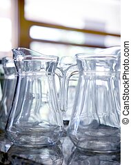 Transparent water glass jars