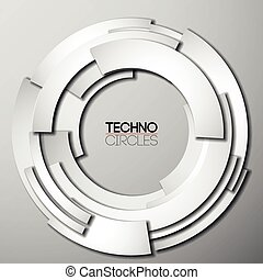 White paper tech circles with shadow - White paper tech...