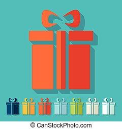 Flat design: gift box