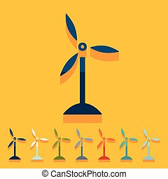 Flat design: wind turbines
