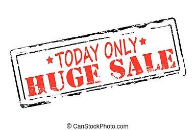 Huge sale - Rubber stamp with text huge sale inside, vector...