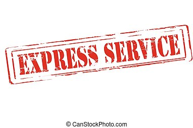 Express service - Rubber stamp with text express service...