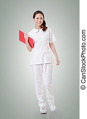 Attractive Asian nurse