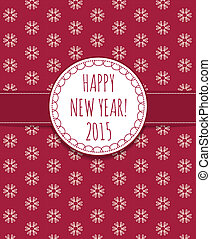 Holiday card Happy New Year 2015.  illustration