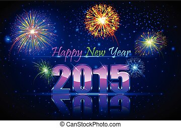 Happy New Year 2015 - vector illustration of Happy New Year...
