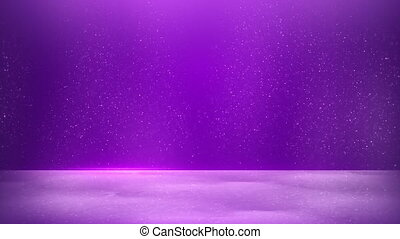 glitter dust on purple background