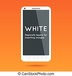 Abstract white phone