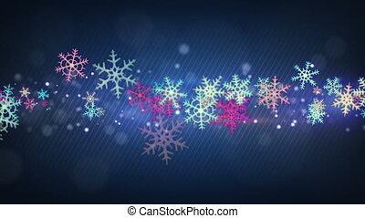 colorful snowflakes seamless loop