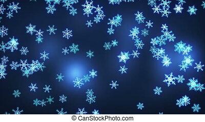 falling snowflakes loop christmas