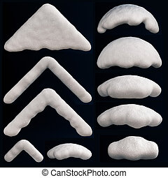 Snow Cap - Snow cap for decorating frames, cards and so on.