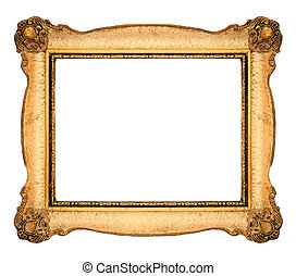 Picture Frame - Orange Old Frame