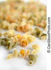 Snail shape Italian pasta texture - Twisty snail shape,...
