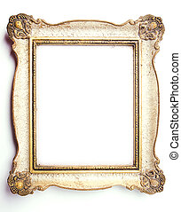 Picture Frame - Wood Frame on White Background