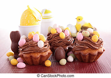 assortment of easter dessert