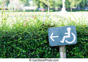 Accessible Way Sign - Accessible way sign for disabled...